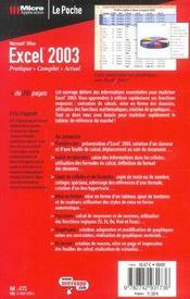 Access 2003 - 4ème de couverture - Format classique