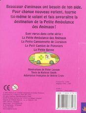 La petite ambulance des animaux - 4ème de couverture - Format classique