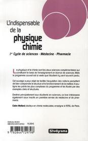 L'indispensable de la physique-chimie (3e édition) - 4ème de couverture - Format classique