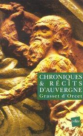 Chroniques et récits d'Auvergne - Intérieur - Format classique