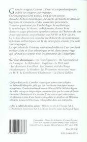 Chroniques et récits d'Auvergne - 4ème de couverture - Format classique