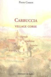 Carbuccia Village Corse - Couverture - Format classique