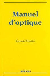 Manuel D'Optique - Intérieur - Format classique