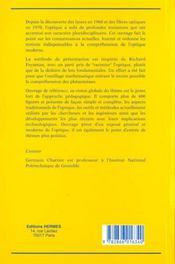 Manuel D'Optique - 4ème de couverture - Format classique