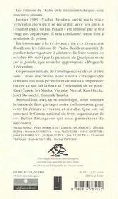 Les Belles Etrangeres ; Treize Ecrivains Tcheques - 4ème de couverture - Format classique