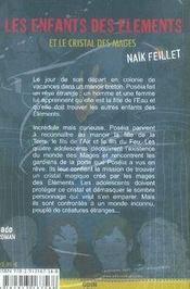 Les enfants des éléments et le cristal des mages - 4ème de couverture - Format classique