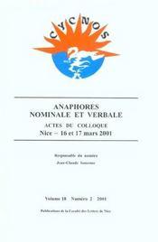 Anaphores Nominale Et Verbale - Intérieur - Format classique