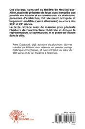 Le Theatre De Moulins-Sur-Allier - 4ème de couverture - Format classique