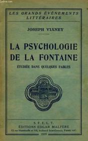 La Psychologie De La Fontaine, Etudiee Dans Quelques Fables - Couverture - Format classique