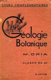 SCIENCES D'OBSERVATION, GEOLOGIE-BOTANIQUE, CLASSE DE 4e (CC) - Couverture - Format classique