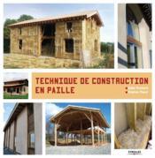 Techniques de construction en paille - Couverture - Format classique