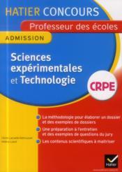 Crpe ; sciences expérimentales et technologie - Couverture - Format classique