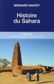 Histoire du Sahara - Couverture - Format classique