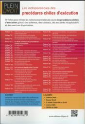 Les indispensables des procedures civiles d execution - 4ème de couverture - Format classique