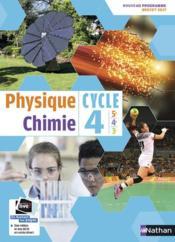 Physique-chimie ; cycle 4 ; manuel de l'élève ; grand format (édition 2017) - Couverture - Format classique