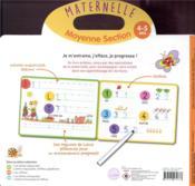 Livre ardoise ; MS ; lettres majuscules et chiffres - 4ème de couverture - Format classique