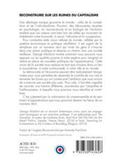 Reconstruire sur les ruines du capitalisme ; s'émanciper par le partage et la coopération - 4ème de couverture - Format classique