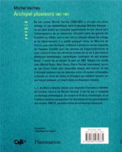 Archipel plusieurs : 1967-1987 - 4ème de couverture - Format classique