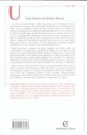Les grecs et leurs dieux - pratiques et representations religieuses dans la cite a l'epoque classiqu - 4ème de couverture - Format classique
