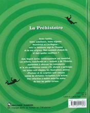 Prehistoire (La) - 4ème de couverture - Format classique