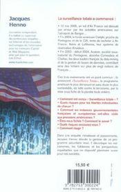 Tous fiches l'incroyable projet americain pour dejouer les attentats terroristes - 4ème de couverture - Format classique