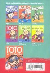 Toto, roi des farces ! - 4ème de couverture - Format classique