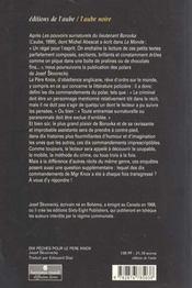 Dix Peches Pour Le Pere Knox - 4ème de couverture - Format classique