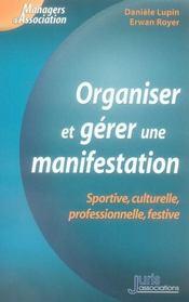 Organiser et gérer une manifestation - Intérieur - Format classique