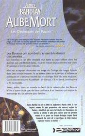 Les chroniques des Ravens T.1 ; AubeMort - 4ème de couverture - Format classique