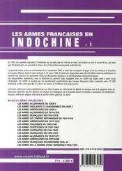 Les armes françaises de la guerre d'Indochine t.1 - 4ème de couverture - Format classique