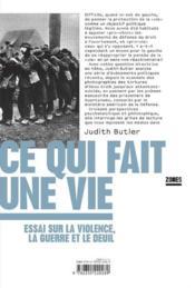 Ce qui fait une vie ; essai sur la violence, la guerre et le deuil - Couverture - Format classique