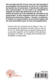 Synthese Formation Accompagnement A La Fin De Vie - 4ème de couverture - Format classique