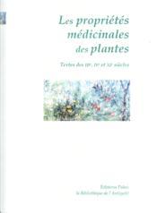 Les Proprietes Medicinales Des Plantes. - Couverture - Format classique