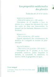 Les Proprietes Medicinales Des Plantes. - 4ème de couverture - Format classique