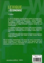 Lexique d'économie (12e édition) - 4ème de couverture - Format classique