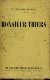 Monsieur Thiers. - Couverture - Format classique