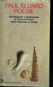 Poesie. Ouvrage Bilingue Francais/italien - Couverture - Format classique