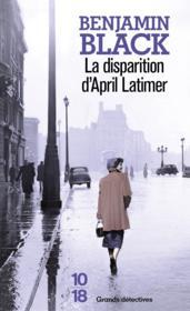 La disparition d'April Latimer - Couverture - Format classique