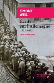 Écrits sur l'Allemagne (1932-1933) - Couverture - Format classique