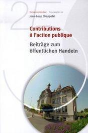 Contributions à l'action publique - Intérieur - Format classique