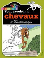 Colorie les chevaux - Couverture - Format classique