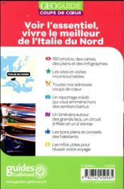 GEOguide coups de coeur ; Italie du nord - 4ème de couverture - Format classique