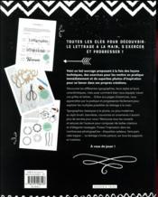 Petites leçons de lettrage - 4ème de couverture - Format classique
