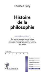 Histoire de la philosophie (5e édition) - Couverture - Format classique