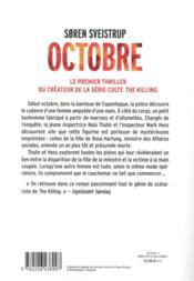 Octobre - 4ème de couverture - Format classique