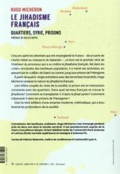 Le jihadisme français ; quartiers, Syrie, prisons - 4ème de couverture - Format classique