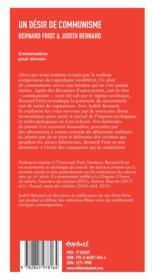 Un désir de communisme ; conversation pour demain - 4ème de couverture - Format classique