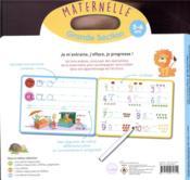 Livre ardoise ; GS ; lettres minuscules et chiffres - 4ème de couverture - Format classique