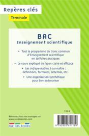 Repères clés bac ; enseignement scientifique - 4ème de couverture - Format classique
