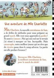 Mlle Charlotte T.6 ; la meilleure entraîneuse de foot - Couverture - Format classique
